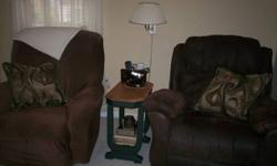 $100 2 Recliners and Light and T.V. and T.V. Stand
