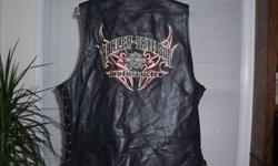 $100 Brand new Harley Davidson genuine leather vest size XL