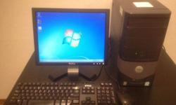 "$100 Dell Optiplex 170L Windows 7, 15"" LCD, 2.80GHz, 2GB"