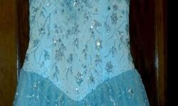 $100 ****Designer Baby Blue Prom Gown- PRICE REDUCED