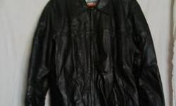$100 Exquisite Black Leather Jacket