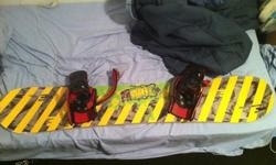 $100 Forum Snowboard and bindings