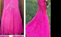 $100 Hot Pink Gown -