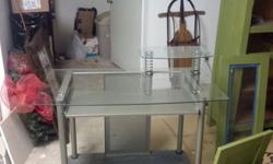 $100 OBO Glass Top Computer Desk