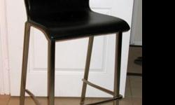 $100 OBO Two (2) Leather Barstools