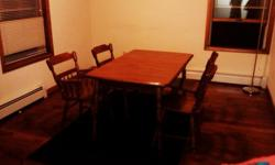 $100 OBO Wooden dinner table with 4 chairs