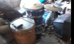 $100 used drum set, hi hat, Apollo, Yamaha, Zildjian