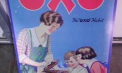 $100 Very Large Vintage OXO Advertising Sign Bright Graphics