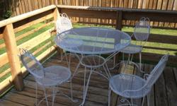 $100 Vintage Outdoor Table & Chairs