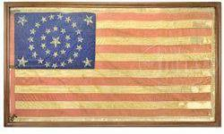 $10,000 Presentation Civil War 34 Star Flag, 31st