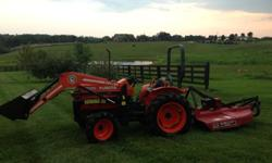 $10,500 OBO Kubota L2350 4x4 Tractor and Front Loader