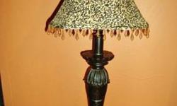 $10 Black Lamp with Leopard Shade