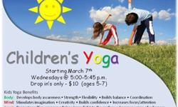 $10 New Classes staring in February, Childrens Yoga starting