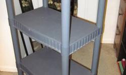 $10 Sturdy Plastic Shelving - Stand Alone - 4 shelves