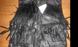 $10 womens leather vest size small