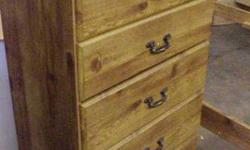$110 5-Drawer Chest of Drawers - Pine Finish (Rags 2 Riches)