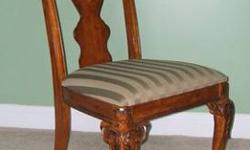$110 Handsome Wooden Chair with Hand-Carved Details