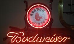 $110 OBO Boston Red Sox Budweiser Neon Sign