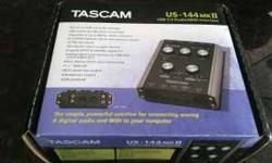 $110 Tascam US-144mkII USB recording interface - MINT