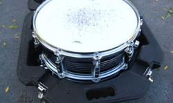 $120 CB 700 Chrome Snare Drum, Stand & Hard shell Case,