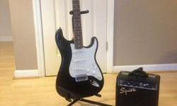 $120 OBO Fender Squier Strat Electric Guitar with SP-10 Amp