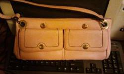 $120 Pink magnetic leather purse