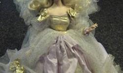 "$125 20"" Franklin Mint Fairy Godmother Porcelain Doll"