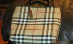 $125 Authentic Burberry Small Tote Bag
