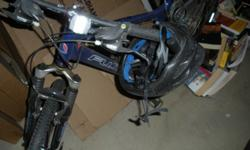 $125 Blue FUJI mountain bike, GOOD condition, with Helmet