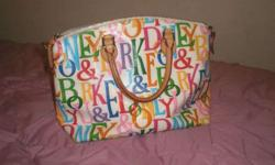 $125 Dooney and Bourke White Multi Color Purse (Sioux Falls,