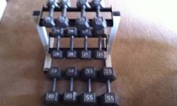 $125 Dumbell Set with Rack