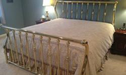 $125 King Size Brass Bed Frame - McMurray, PA area