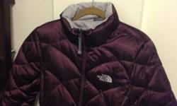 $125 North Face Puffer Coat (M) - Aubergine