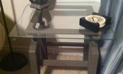 $125 OBO Set of 2 glass-top end tables & 1 coffee table