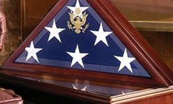 $129 American Burial Flag Box, Large coffin flag display