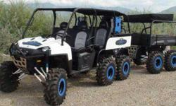 $12,500 2011 Polaris Ranger 800 6X6 White UTV & Matching