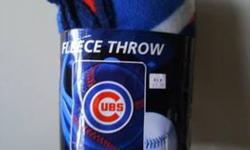 $12 New-Never used Cubs fleece throw