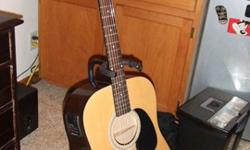 $130 Johnson Acoustic Guiter w/ Built-in Tuner and Stand