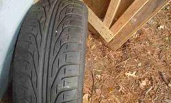 $130 Tires, Set of 4 Pirelli Tires 225/65/15 Aqua Thread