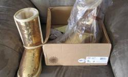 $130 Ugg Gold Sparkle Boots with sheep skin lining