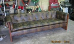 "$135 92"" leather look sofa and matching chair"