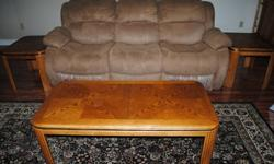 $140 Coffee table & 2-end tables