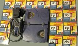 $140 IOMEGA 250MB ZIP Drive-External (Parallel Port) & (15)