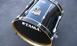 $140 Tama Rockstar Black Bass Drum, Very Nice Condition