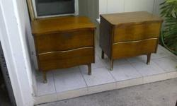 $149 Matching Mid Century Walnut Night Stands
