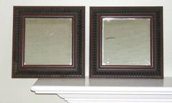 $14 Decorative Framed Mirrors (set of 2)