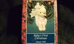 $14 Enesco Precious Moments Baby's First Christmas 1992 NEW