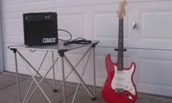 $150 Fender Squire Stratocaster with Amp, Stand, and Case.