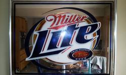 $150 OBO Large Miller Lite Mirror Sign