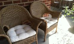 $150 OBO Pier 1 Rattan Armchairs - outdoor patio furniture
